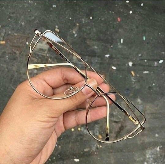 56812e3d536fe Óculos Armação De Grau Gatinho Metal Love Punch Frete Gratis - R ...