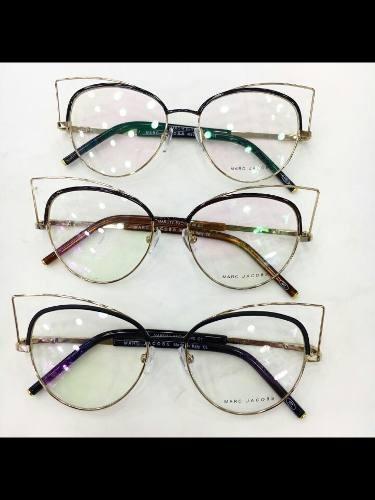 Óculos Armação De Grau Gatinho Metal Marc Jacobs Frete Brind - R ... 51799628ee