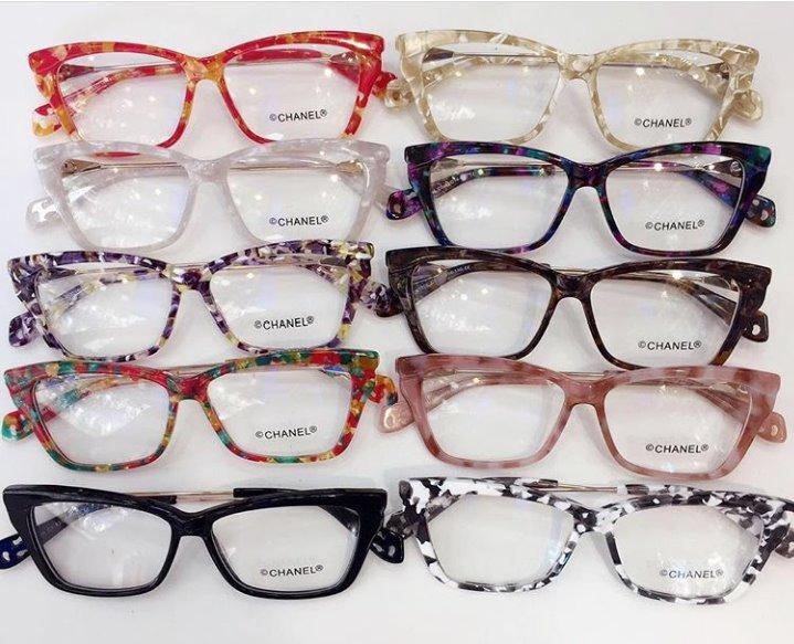 75db897356500 Óculos Armação De Grau Gatinho Quadrado Feminino Acetato - R  120