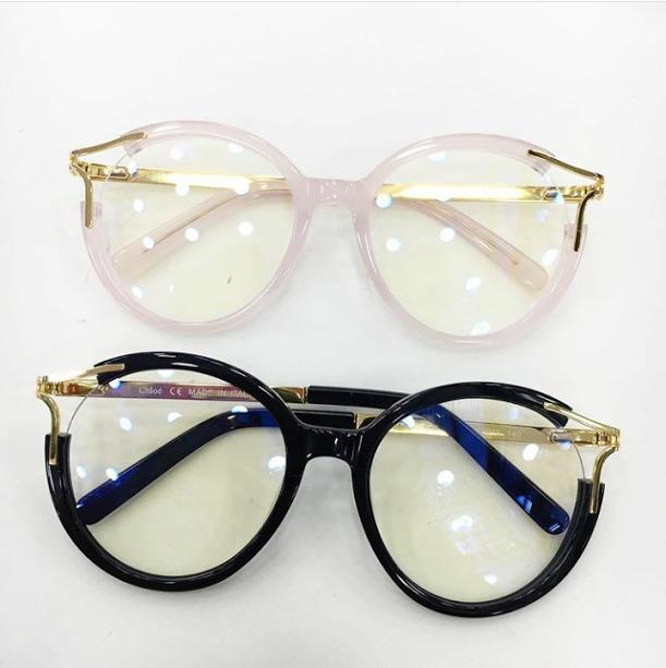 637e426bd278b Óculos Armação De Grau Gatinho Redondo Detalhe Dourado Haste - R ...