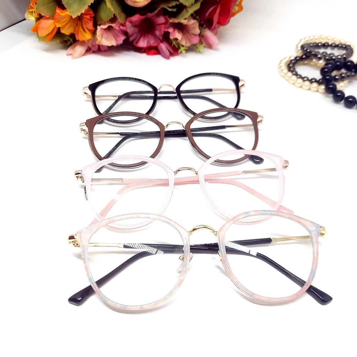 f30b4d36b2a6e óculos armação de grau gatinho redondo psg-11006tt + brinde. Carregando zoom .