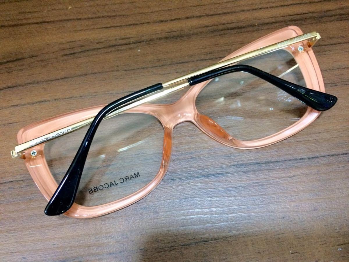 oculos armação de grau marc jacobs branco com salmão -mj102. Carregando  zoom. 49f5cc15f4