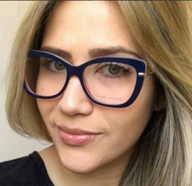 Oculos Armação De Grau Marc Jacobs Gatinho Acetato - R