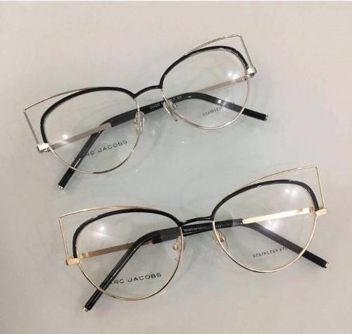 Oculos Armação De Grau Marc Jacobs Fina Metal Gatinho - R  120,00 em ... cd4cb5d268