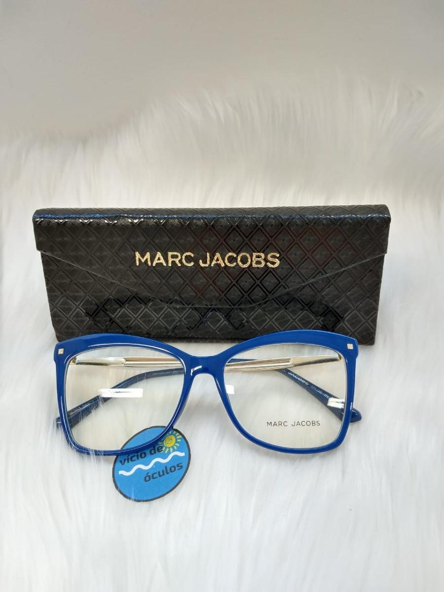 Óculos Armação De Grau Marc Jacobs Redondo Quadrado - R  89,90 em ... 849014ce16