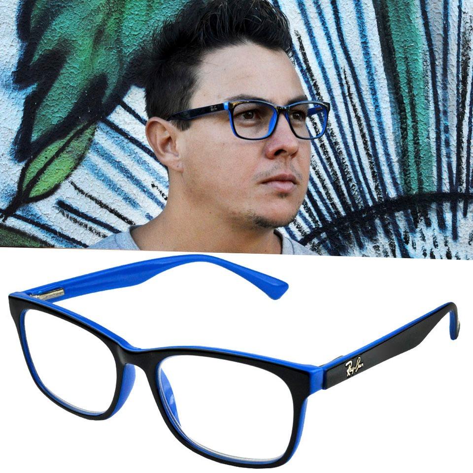 bcf36f73c óculos armação de grau masculino home quadrado rayban 5115. Carregando zoom.