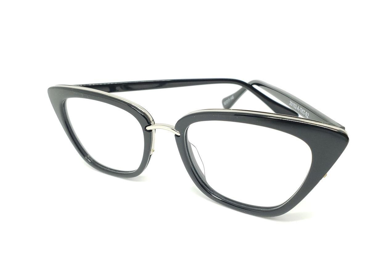 569699000f92f óculos armação de grau retro gatinho preto tr90 + brinde. Carregando zoom.