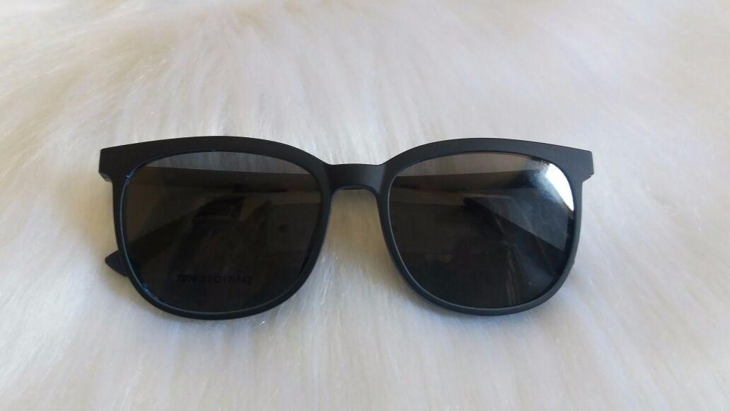 óculos armação de grau + solar acetato 2 em 1 clip on laa21. Carregando  zoom. 64466d3d7e