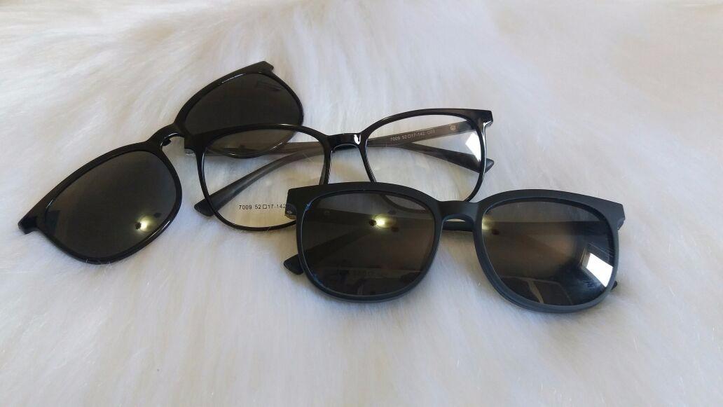 a5bd0e2336cd0 óculos armação de grau + solar acetato 2 em 1 clip on lpp21. Carregando zoom .
