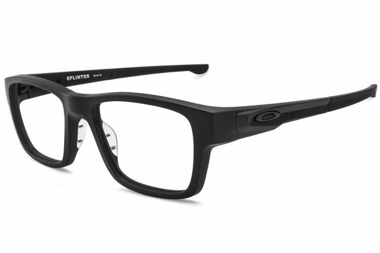 Óculos Armação Esportivo Oakley Splinter Preto De Grau - R  88,90 em  Mercado Livre 72383fc19c