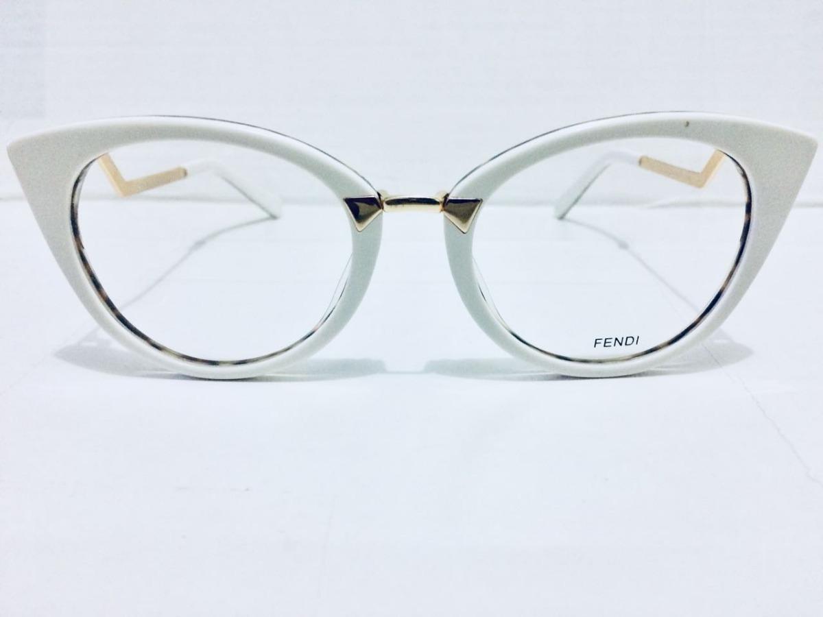 Óculos Armação De Grau Fendi Branco Envio Imediato -fe101 - R  135 ... 0c693e8c7d