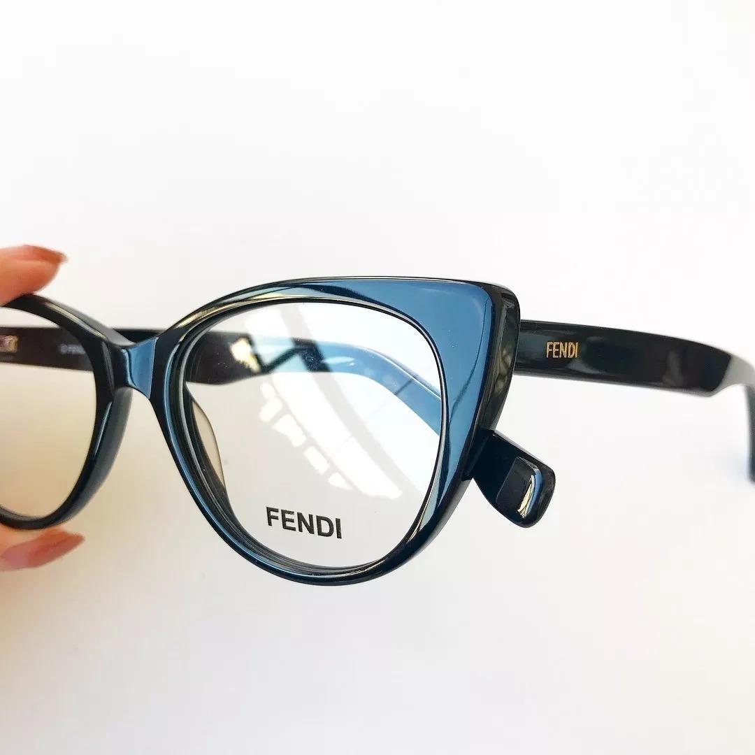 oculos armação fendi de grau estilo gatinho acetato preto. Carregando zoom. 96f8fde900