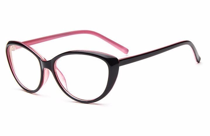 d76c87e58aa7e Óculos Armação Gatinha Feminino Retro Preto E Rosa - R  120,99 em ...