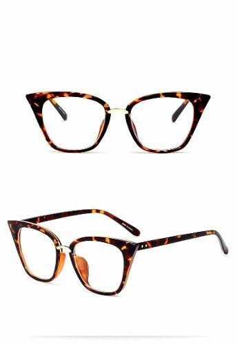 e5731c46bc74b Óculos Armação Gatinha Vintage Retro Cor Leopardo Acetato - R  65,39 ...