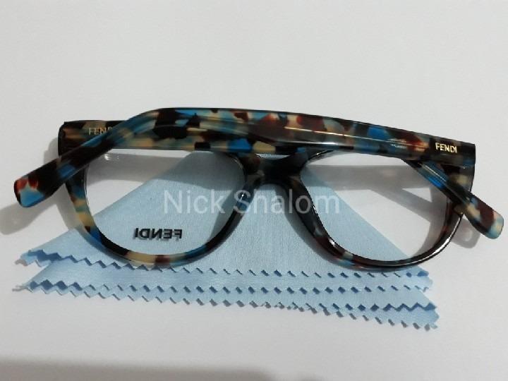 b29a54d472b13 Óculos Armação Grau Feminino Fendi Gatinho Acetato. - R  72,00 em ...