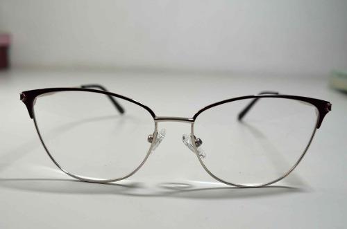 5212a8dc24bbc Óculos Armação Grau Feminino Gatinha Wiikglass Vinho - R  99