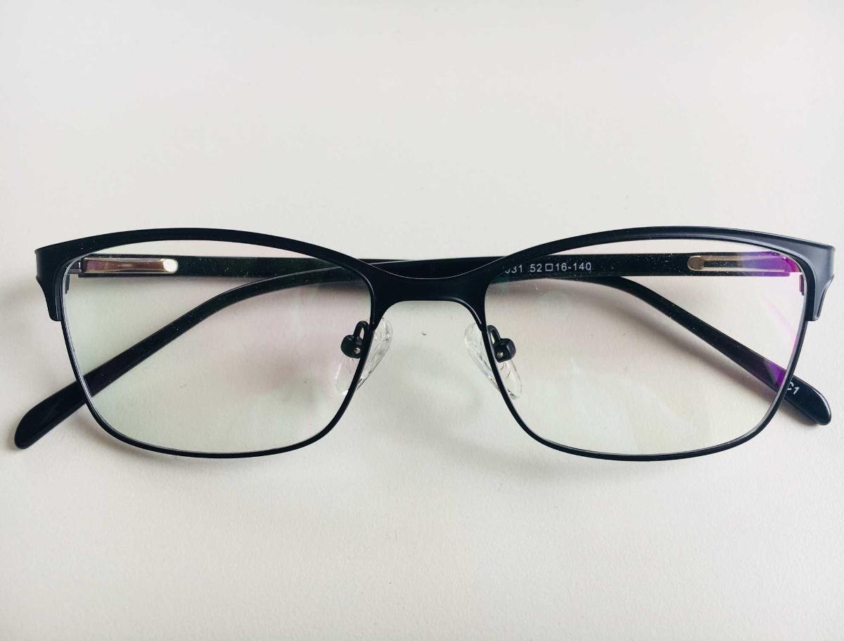 óculos armação grau feminino metal moda 2018 preto. Carregando zoom. 29add8141e