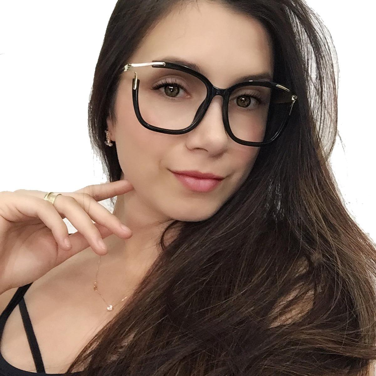 óculos armação grau feminino quadrado acetato+brinde cl2689. Carregando  zoom. 7c7025b12b