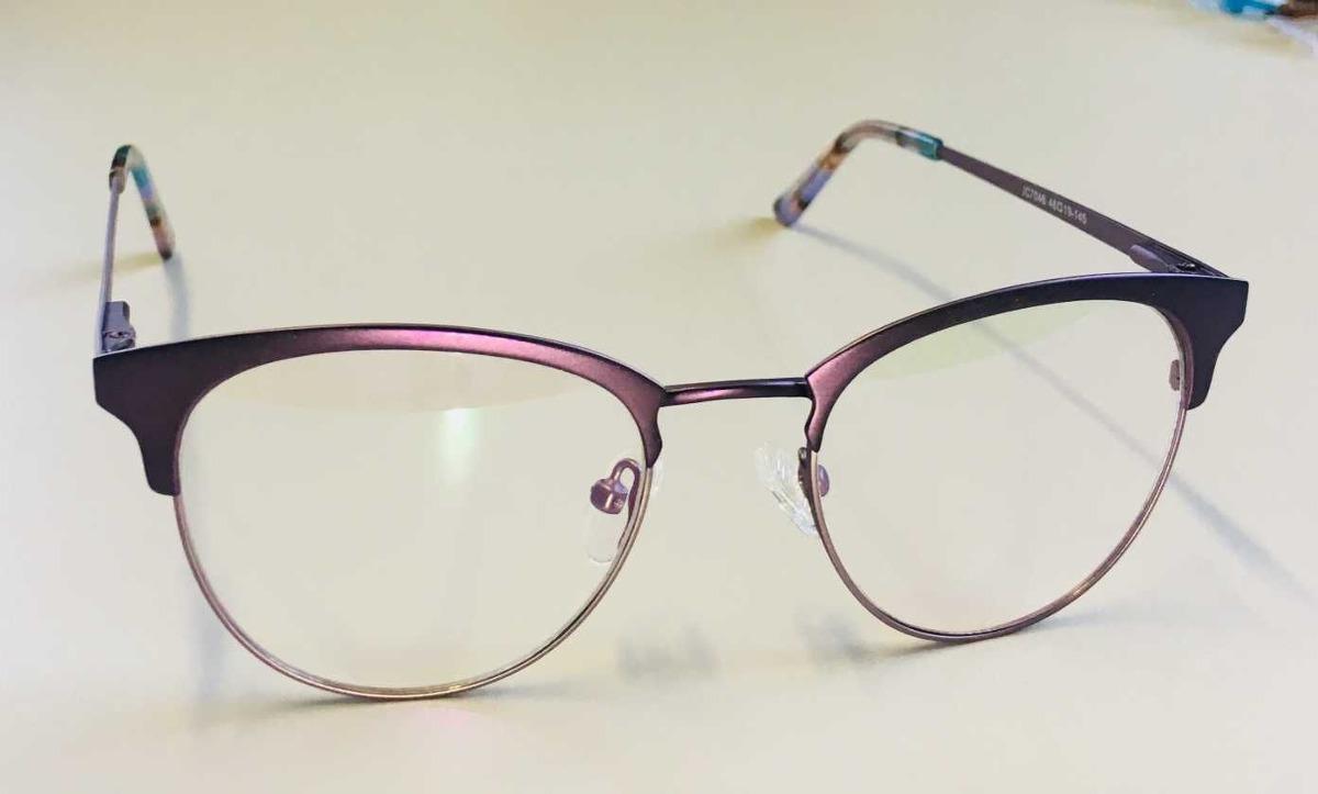 Óculos Armação Grau Feminino Redondo Geek Lilás - R  89,90 em ... 72275445a5
