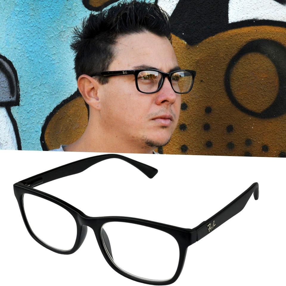 21734dc21 óculos armação grau homem masculino rayban preto quadrado. Carregando zoom.