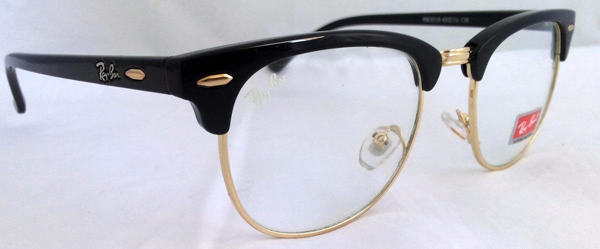 reduced carregando zoom óculos armaço grau ray ban rayban clubmaster 8034b  06092  cheap rayban clubmaster preto dourado. carregando zoom. ced70 e5a53 127174d19b