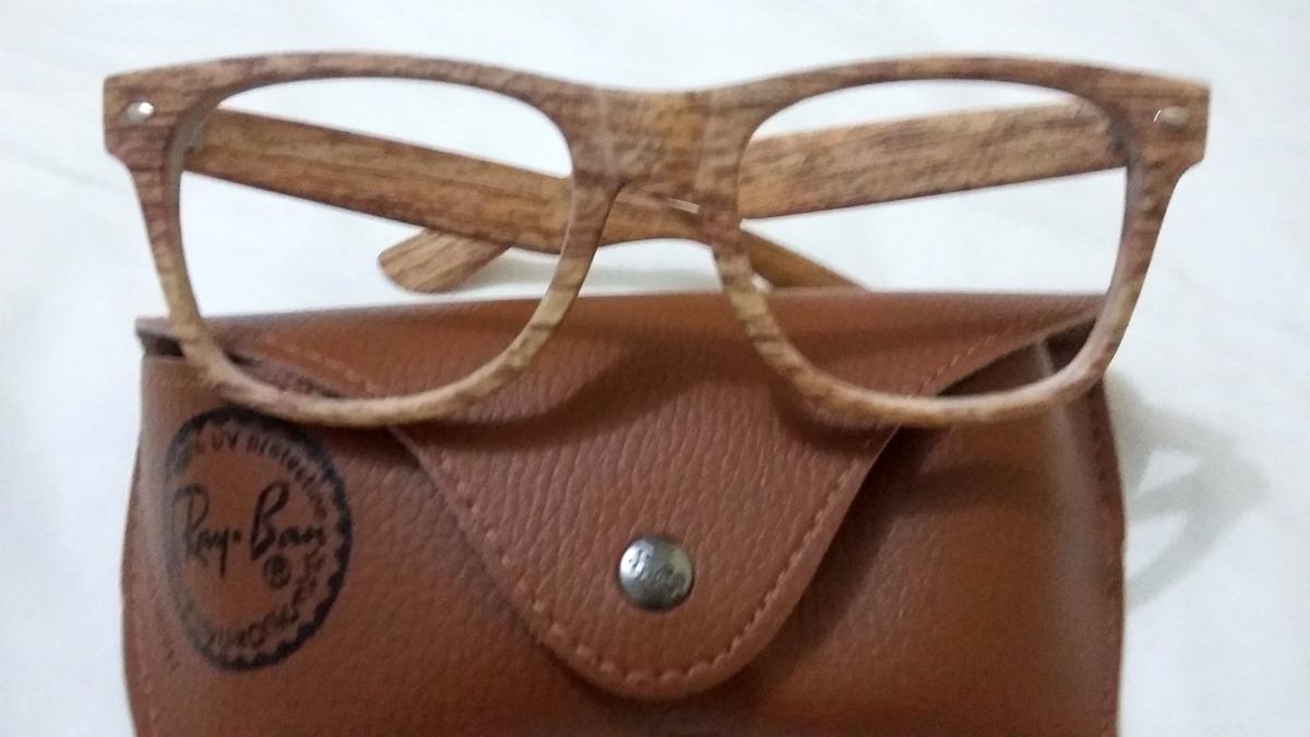 5fa793fb9 oculos armação grau ray ban wayfarer justin madeira rb 4165. Carregando  zoom.