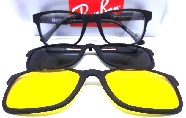 6b412a09ad360 Oculos Armação Grau Sol Clip On Masculino Feminino Cod.20 75 - R ...