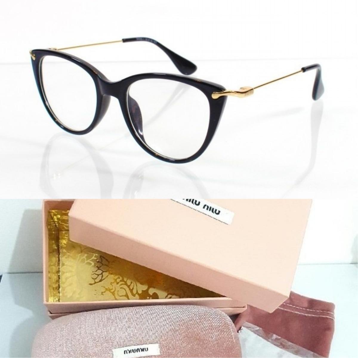 1d104c8fc8182 Oculos Armação Miu Miu Feminino + Kit - R  348,90 em Mercado Livre