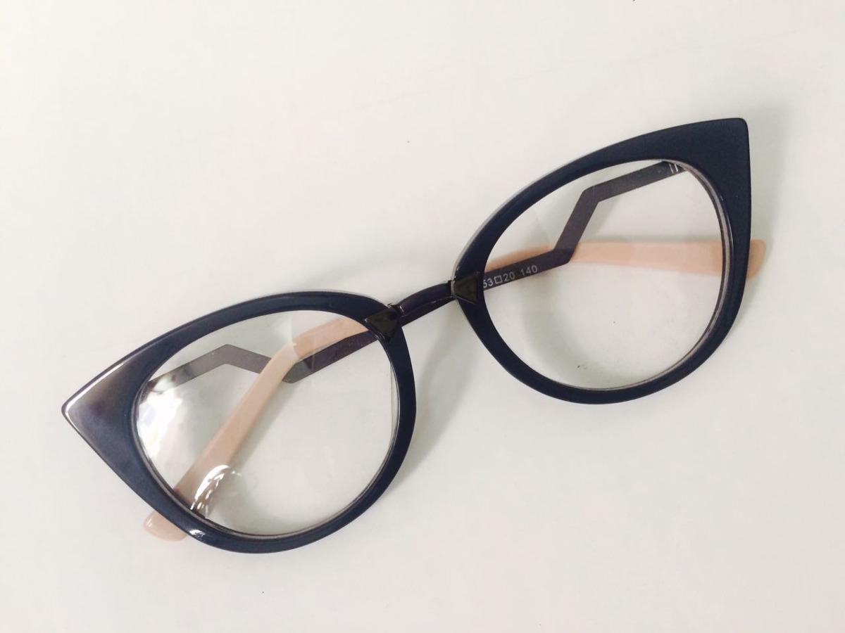 46f884062c05b óculos armação para grau feminino fendi gatinho ff0118. Carregando zoom.