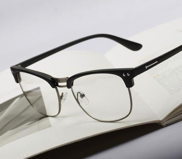 3c0d5513f Óculos Armação Para Lentes De Grau Retrô Geek Vintage - R$ 29,90 em ...