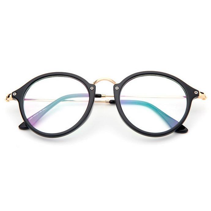 87742b08f90c3 Óculos Armação Preta Com Lente Transparente Sem Grau Tumblr - R  72 ...