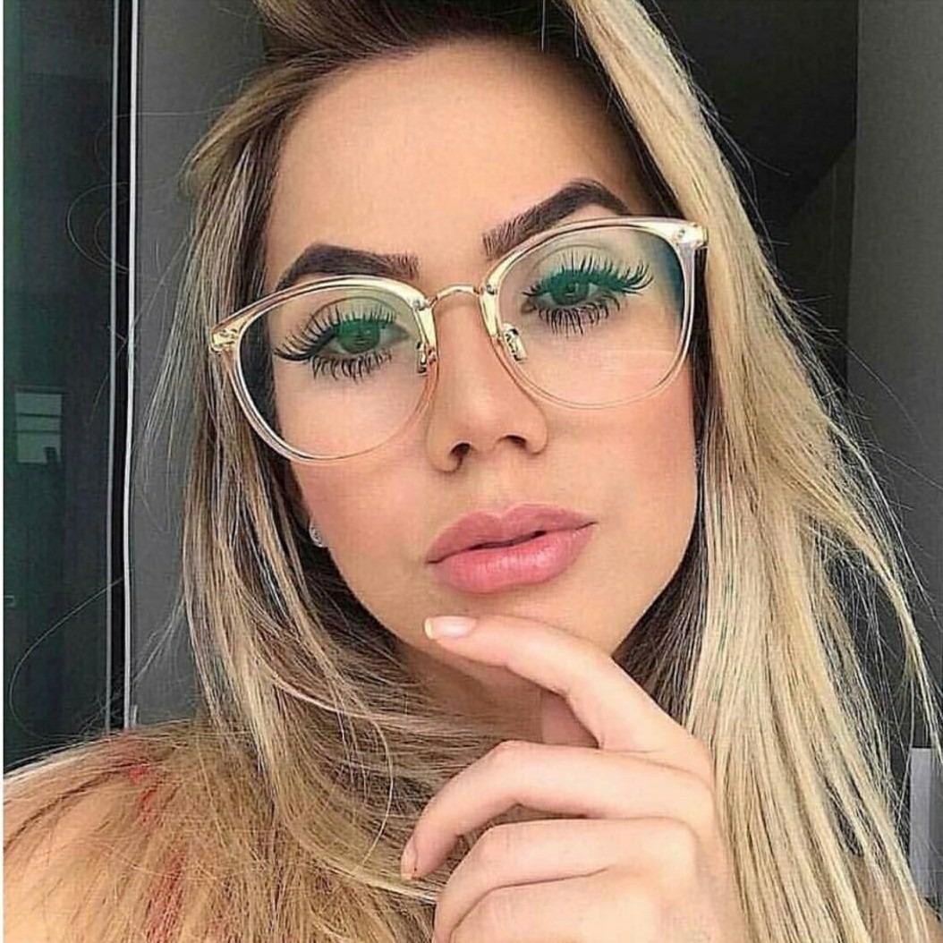 óculos armação quadrada gatinho transparente moda nerd lindo. Carregando  zoom. 570db0aee7
