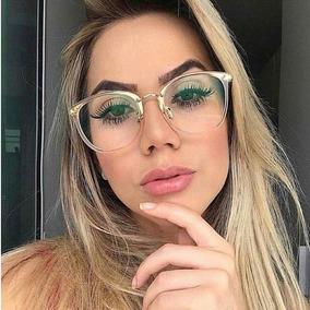 615dbee88 Oculos Gatinho Lente Transparente Sem Grau - Óculos no Mercado Livre ...