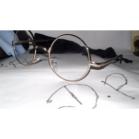 591bf49754f18 Óculos Redondo Estilo John Lenon Dourado   Lente Marrom - Óculos no ...