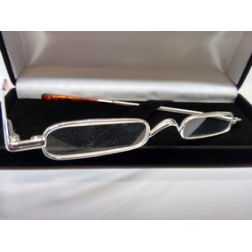 da366bfff143f Óculos Leitura Micro Banhado Ouro Branco18k - Garantia 1 Ano