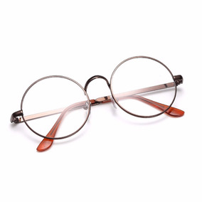 17fd27bde64bf Armação De Óculos D Grau Metal Redondo Masculino Feminino Bp