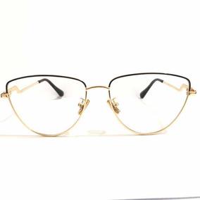 bfe027e4b5037 Óculos Trend-8049 Metal Chic Menina Flor Blogueira Gatinho