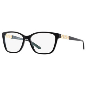 fdada665a5497 Armação Oculos Grau Versace Ve3192b Gb1 54 Preto Dourado Bri