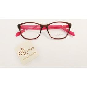 fa595b5160957 Óculos Calvin Klein Modelo Ck 5890 145 Vermelho E Preto