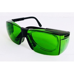 c4176e7d45bd0 3 Armação Oculos Seguranca P  Lente De Grau Soldador Verde