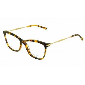 2a50e4d9c5772 Armação Oculos Grau Ana Hickmann Ah6254 G21 Marrom Demi