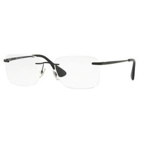 b8f3e0b22e915 Armação Oculos Grau Ray Ban Rb6415 2503 54mm Preto Brilho