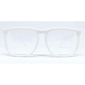 cda1d5a77 Oculos De Grau Quadrado Grande - Óculos Branco no Mercado Livre Brasil