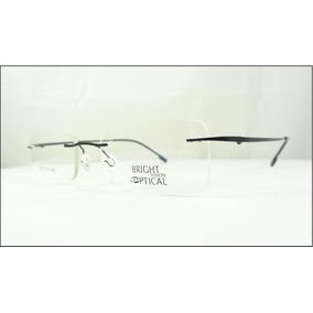 d620b62812013 Armação Óculos De Grau Preta Feita De Titanium Sem Aro A437 · R  69 99
