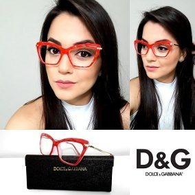 5117d83fc81e7 Armação De Óculos Para Grau Diamante Vermelho Dg Com Case