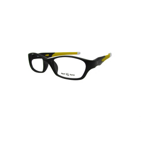 19566a9288676 Armação Óculos De Grau Red Nose Preto E Amarelo Masculino
