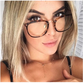 9e2a1a77ef998 Oculos Da Moda Feminino Transparente - Óculos Preto em Minas Gerais ...