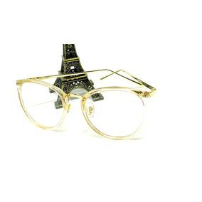 9b9d2d47a79d5 Óculos Armação De Grau Feminino Redondo Geek Metal C  Brinde
