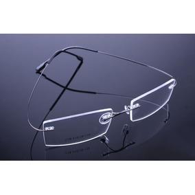 846e61295893a Armação Oculos Feita De Titanium Preta Leve Sem Aro - A525