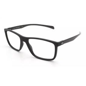 cac09ad39 Armação Oculos Grau Hb 9313875733 Preto Fosco Haste Fibra Ca
